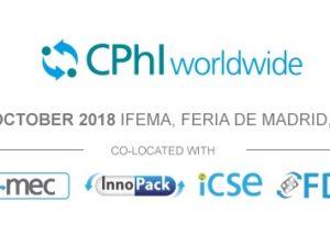 CPhI 2018,  les 9, 10 et 11 Octobre à Madrid