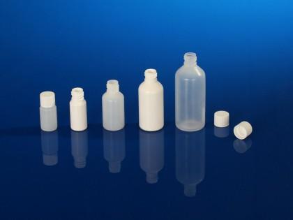 Flacons pharmaceutiques sprays, bague à vis