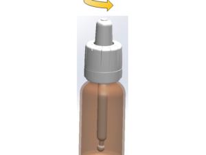 Capsule compte-gouttes pipette sécurité enfants